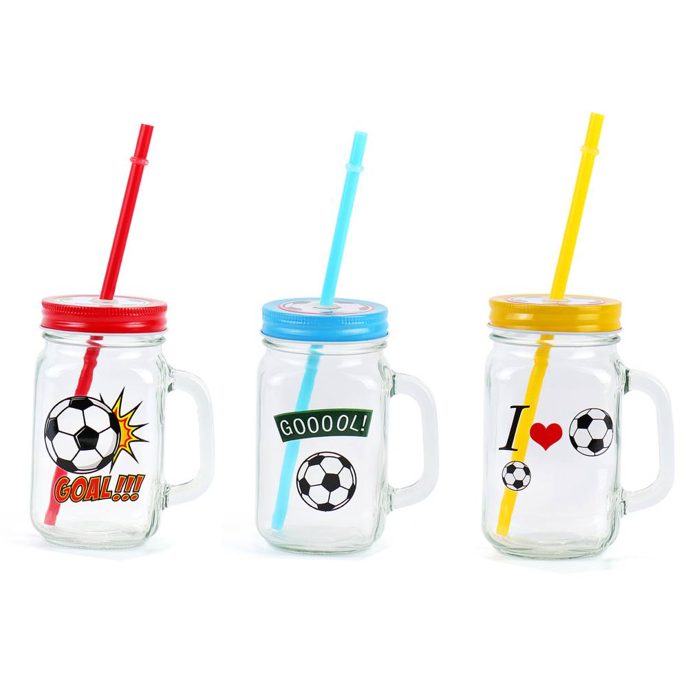 Detalle para bodas jarra de cristal con diseño de fútbol - Detalles De Boda