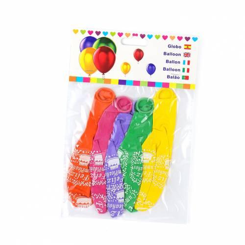"""Globos de colores """"Feliz Cumpleaños"""" para decoración fiestas - Decoración Cumpleaños"""
