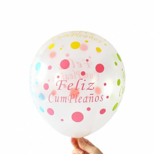 """Globos transparentes """"Feliz Cumpleaños"""" para decoración fiestas - Detalles para cumpleaños"""