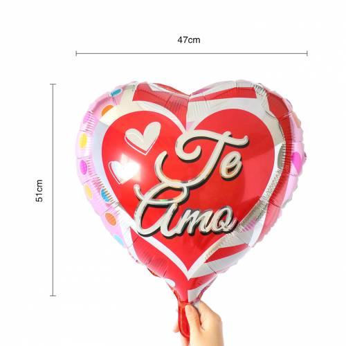 """Globos de corazón rojo """"Te amo"""" - Detalles De Boda"""