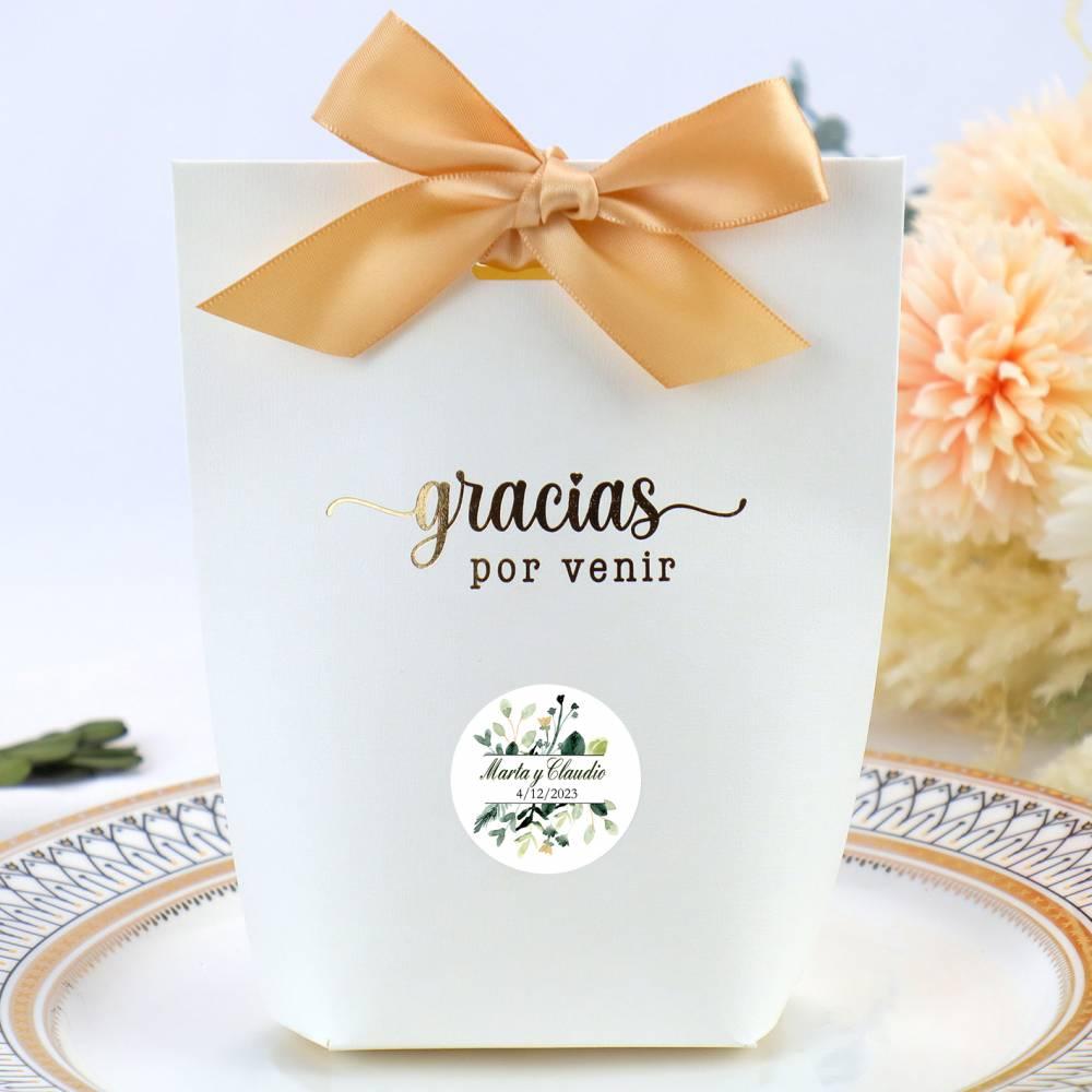 Caja de regalo grande para bodas con etiqueta personalizable tipo 1 - Detalles Boda Personalizados