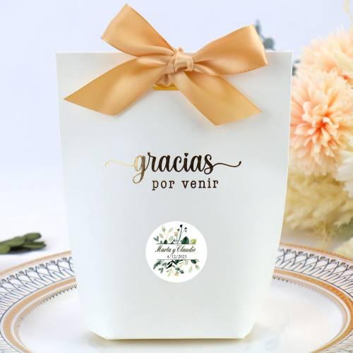 Caja de regalo grande para bodas con etiqueta personalizable tipo 2 - Detalles Boda Personalizados