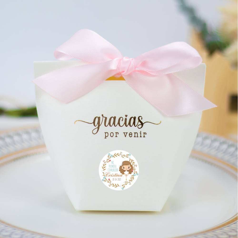 Caja de regalo pequeña para Comunión niña - Envoltorio Regalo de comunión