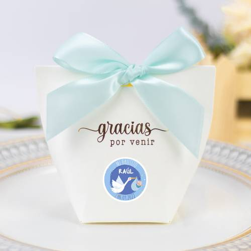 Caja de regalo pequeña para bautizo niño - Detalles para comunión