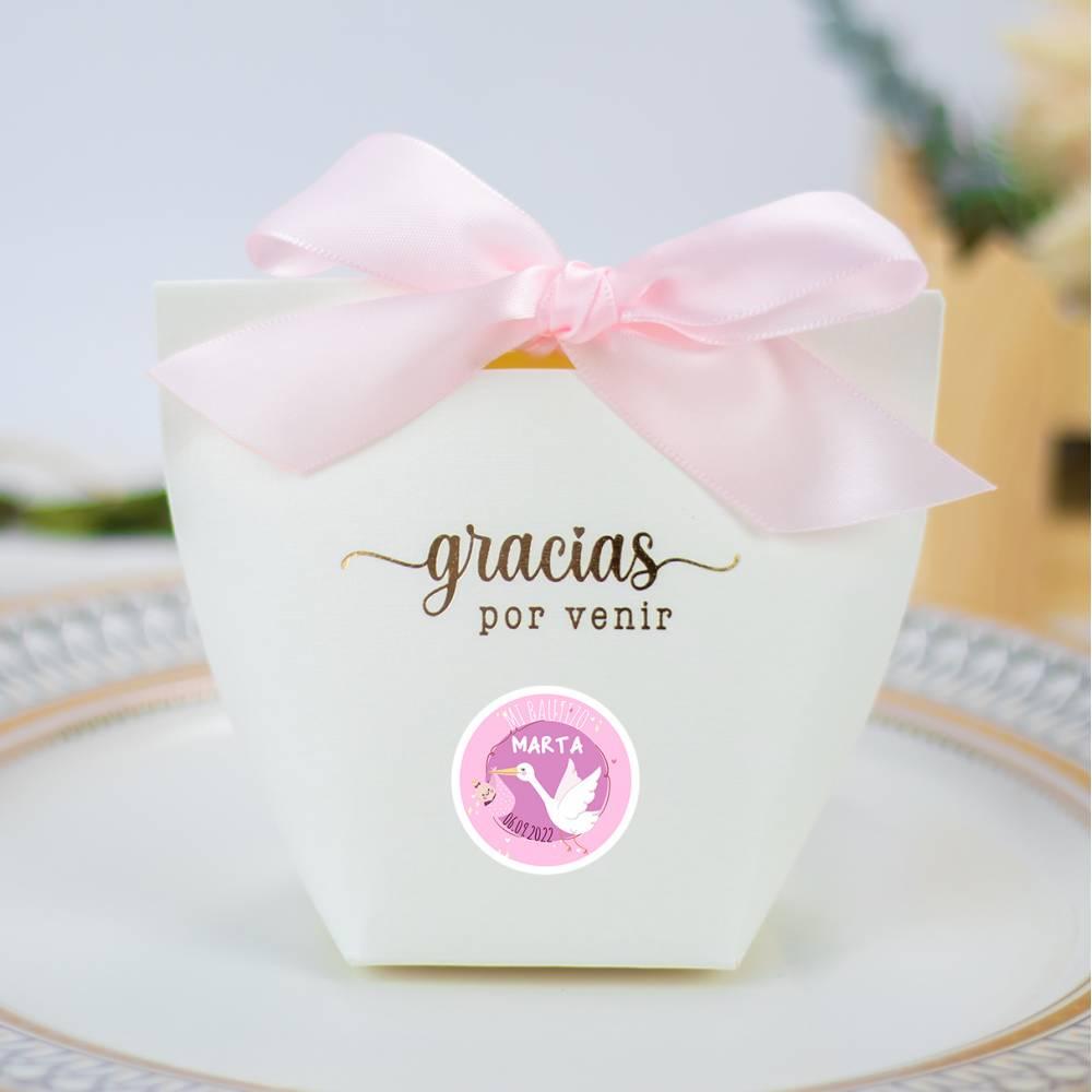 Caja de regalo pequeña para bautizo niña - Detalles para comunión