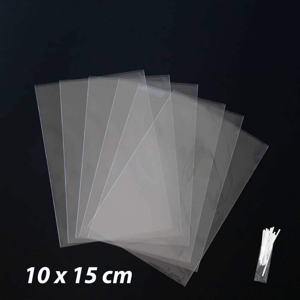 50 bolsas celofán transparentes 10x15cm - Envoltorio Regalo