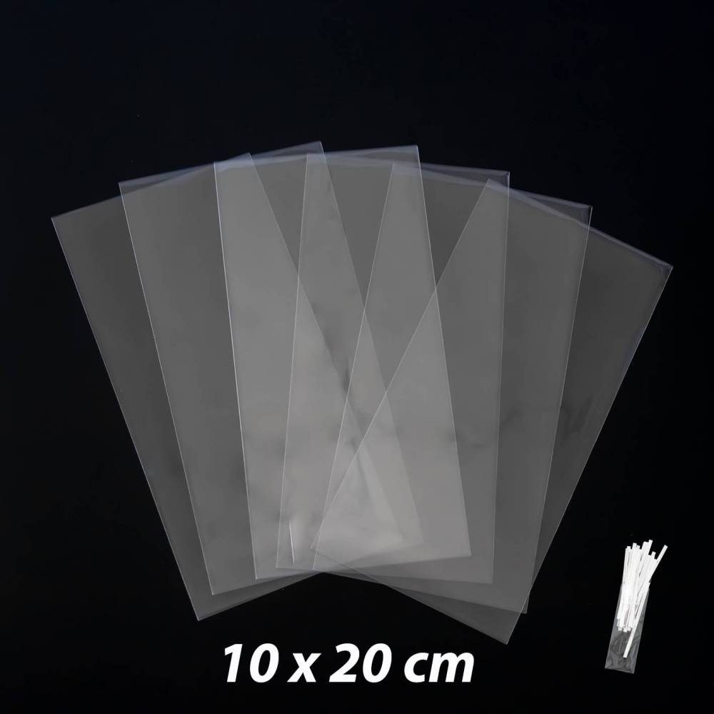 50 bolsas de celefán transparentes baratas 10x20cm - Envoltorio Regalo