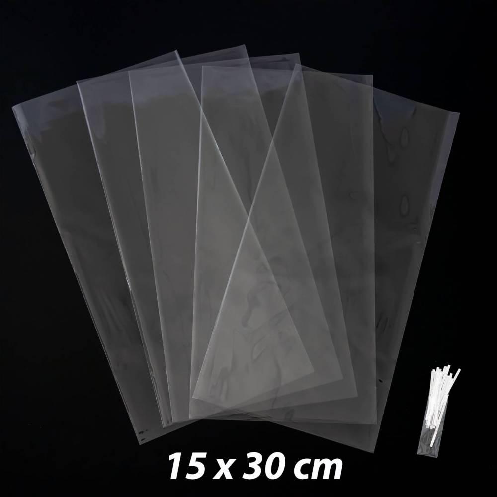 50 bolsas transparentes celofán 15x30cm - Envoltorio Regalo
