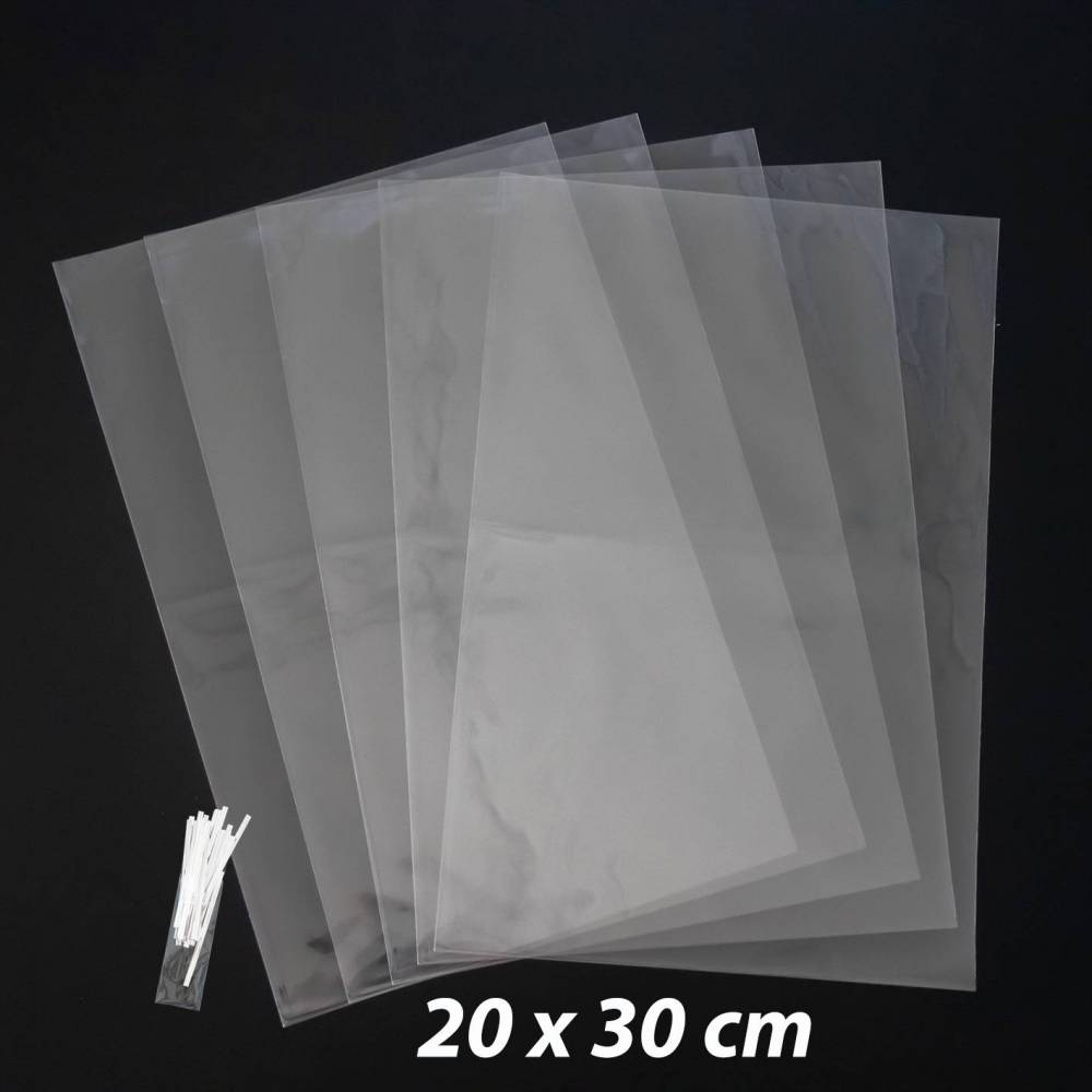 50 bolsas celofán transparentes baratos 20x30cm - Envoltorio Regalo