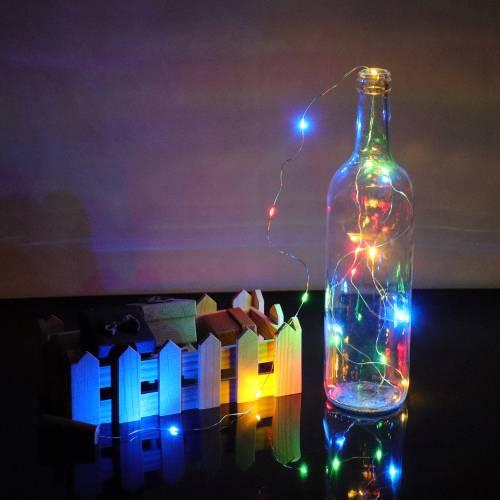 Luz multicolor para botellas