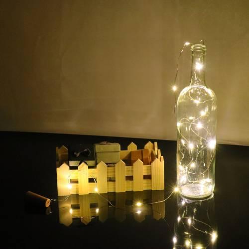Luces led con tapón botella...