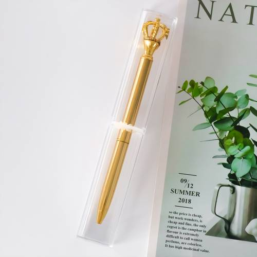 Bolígrafo corona con caja