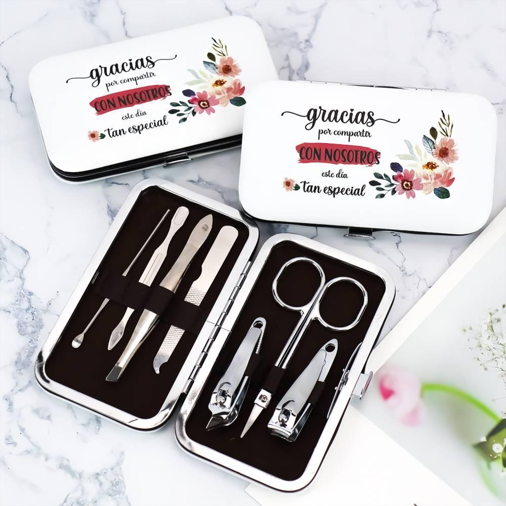 Set de manicura detalles para invitados de boda modelo flores - Detalles De Boda