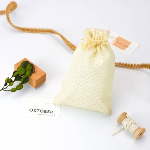 Bolsa grande de yute sintético detalles para invitados - Detalles De Boda
