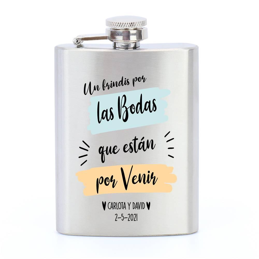 Petaca personalizada para boda modelo 2 - Detalles De Boda