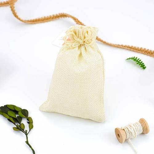Bolsa de yute sintético 10x15cm detalles para invitados - Envoltorio Regalo