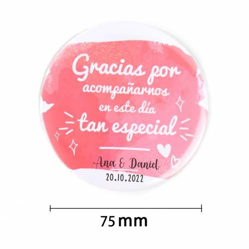 Espejo portátil personalizado modelo 3 detalles de boda - Detalles De Boda
