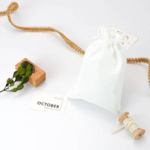 Bolsa pequeña de yute sintético para detalles 9x11.5cm - Envoltorio Regalo