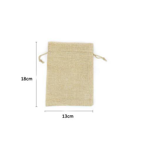 Bolsa grande de yute sintético 13x18cm para detalles - Detalles De Boda