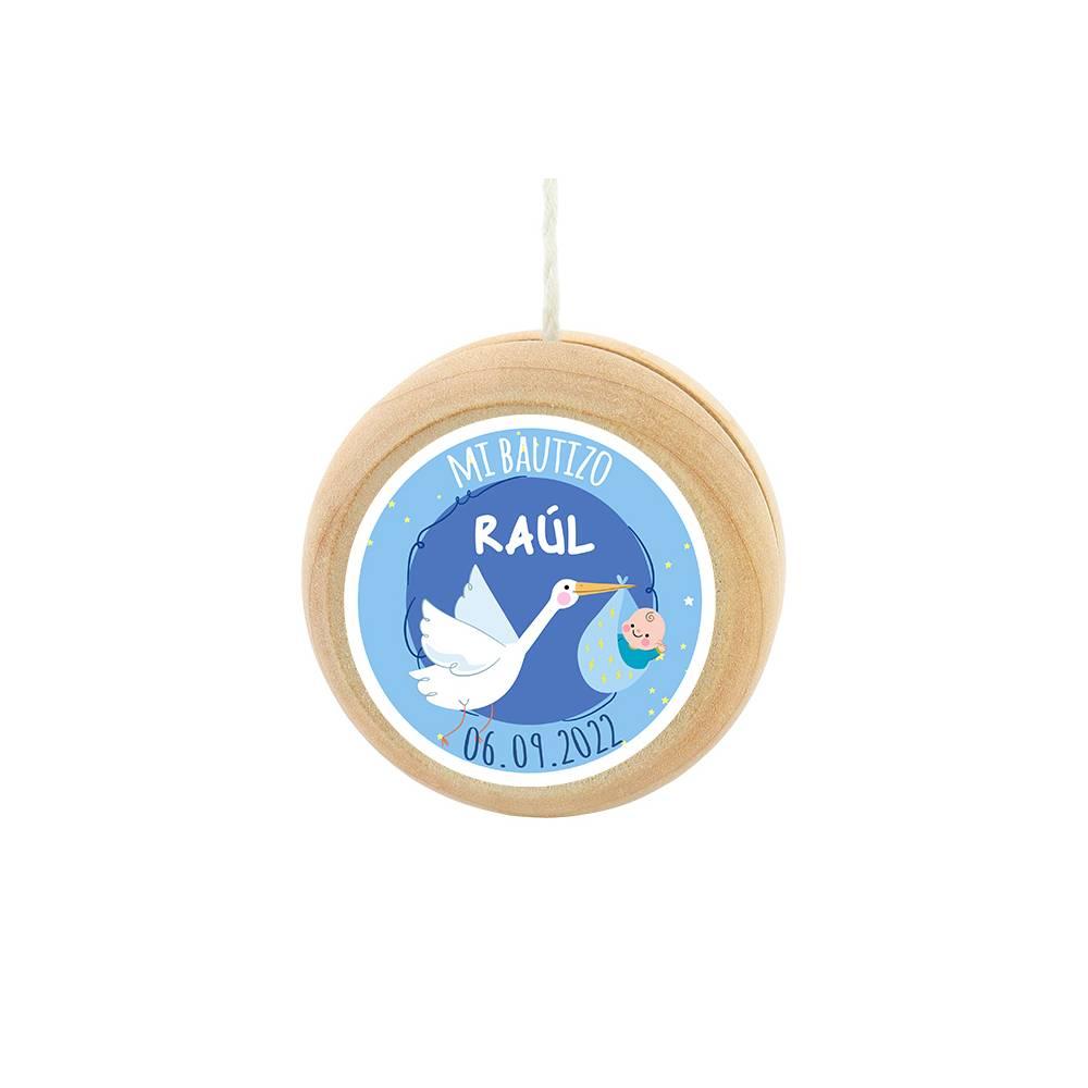 Yoyo pegatina personalizada modelo Raúl para niño bautizo - Detalles para bautizo