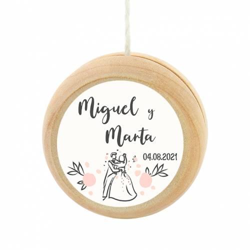 Yoyo pegatina personalizada modelo Juntos detalles de boda - Detalles De Boda