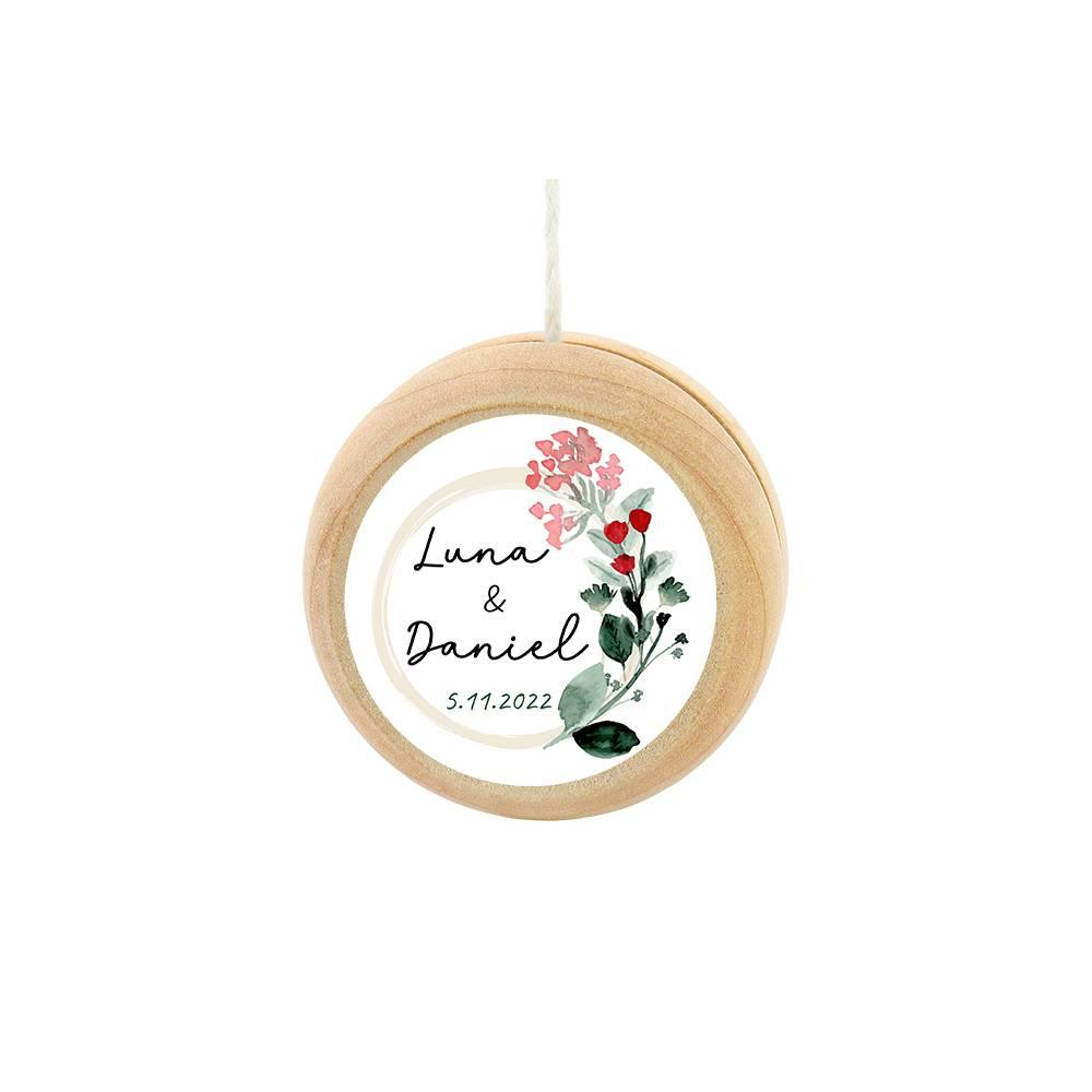 Yoyo pegatina personalizada modelo Amor detalles de boda - Detalles De Boda