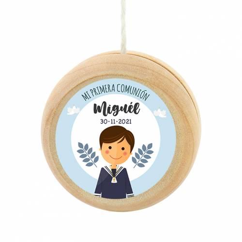 Yoyo pegatina personalizada modelo León para niño comunión - Detalles para comunión