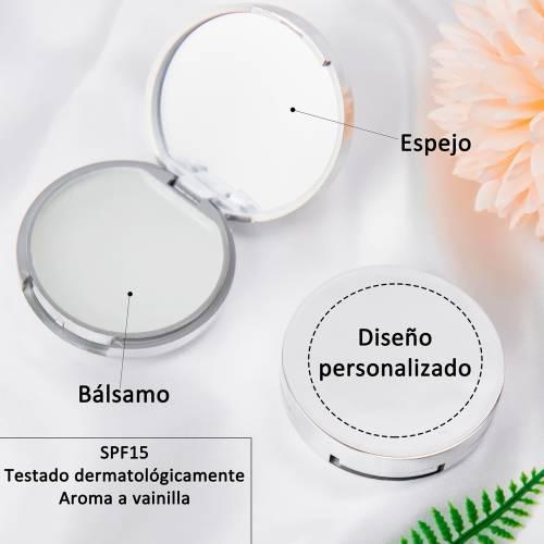 Bálsamo personalizado con espejo modelo Girasol detalles de boda - Detalles De Boda