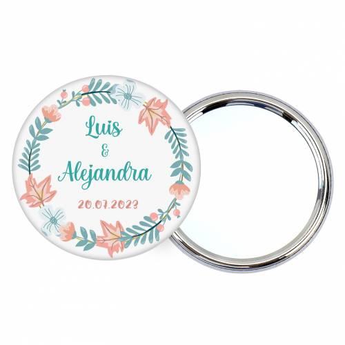 """Chapa personalizada con espejo """"Summer"""" detalles boda - Chapas Espejos Personalizados Boda"""