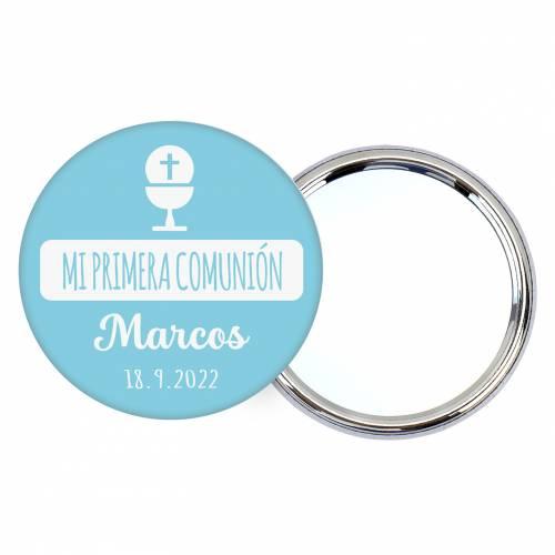 """Chapa personalizada con espejo """"Cielo"""" detalles comunión - Chapas Espejos Personalizados Comunión"""