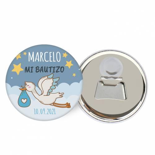 "Abridor con imán personalizado ""Noche"" detalles bautizo - Abridor Imán Personalizado Bautizo"