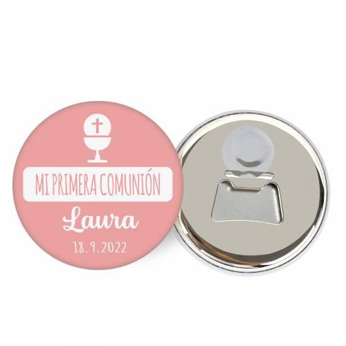 "Abridor con imán personalizado ""Laura"" detalles comunión - Abridor Imán Personalizado Comunión"