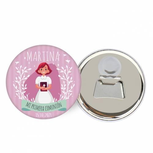 """Abridor con imán personalizado """"Martina"""" detalles comunión - Abridor Imán Personalizado Comunión"""