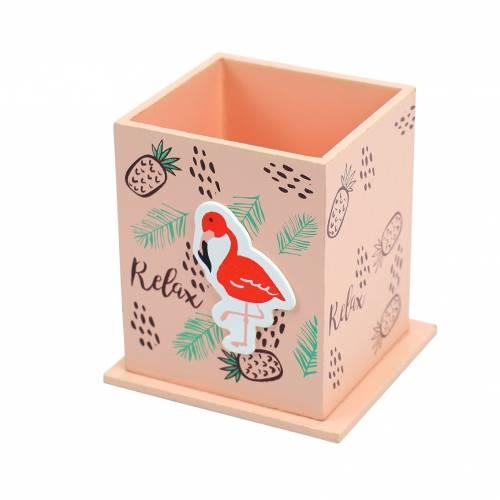 Portalápices de madera estilo flamenco para regalar