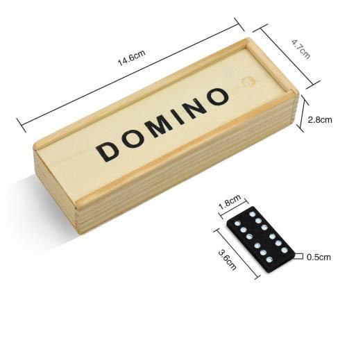 Dominó detalles divertidos para niños en caja de madera