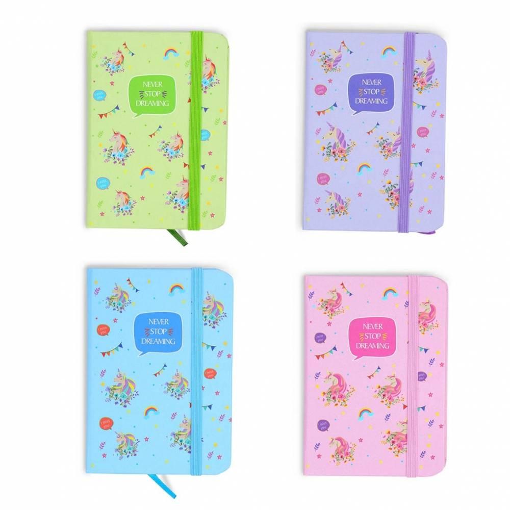 Bloc de notas de unicornio, cuaderno, libretas pequeñas para niñas
