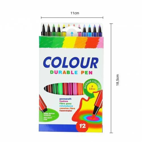 Caja de rotuladores de colores para dibujos 12 unidades