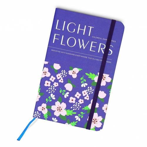 Libretas bonitas decoradas de flores sin anillas para mujeres