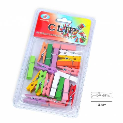 Pinzas pequeñas manualidades multicolor (3,5cm)