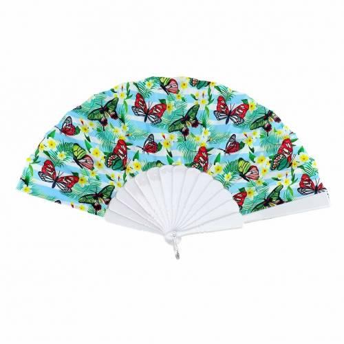 Abanicos baratos con estampado de mariposas