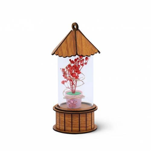 Casita de flores para decorar