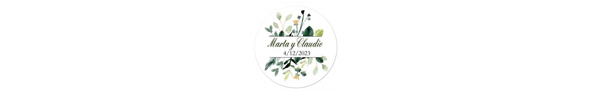 ▷ Pegatinas y etiquetas personalizadas para boda | Regalantes